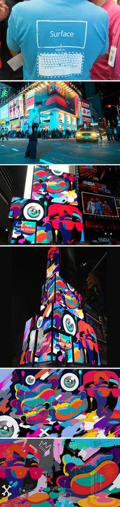 Microsoft Windows 8 launch | Monorex #mural