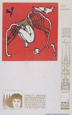 VER SACRUM (1898) | Flickr - Photo Sharing! #ver #1898 #postcard #vienna #sacrum #art #moser #koloman #secession