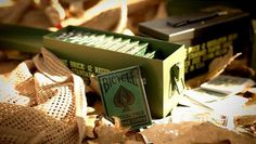 lovely package dan and dave playing card canister 2 #bicycle #playing #military #bullets #cards