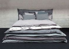 Lazy Design? #bed #interior #gray #pillows