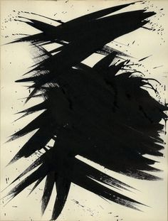Hans Hartung, Untitled,1956, Ink on paper, 34.5 x... #hartung #hans