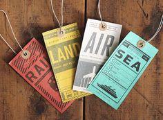 Luggage Tag Set | Two Arms Inc. #train #print #travel #ship #plane #luggage #tags