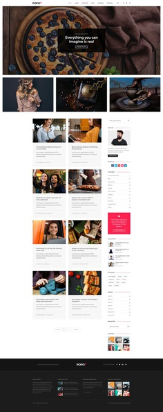 Pofo - #Creative #Portfolio and #Blog #WordPress Theme for Blog #Grid by #ThemeZaa