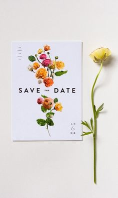 save the date by lisa hedge #invitation #styling #composition #set #up #poster #graphics #typographiy #flowers