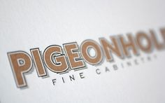 FPO: Pigeonhole Fine Cabinetry Business Card #business #card #letterpress #type #typography