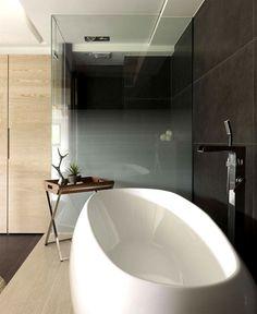 Stylish Residence in Taipei - stylish bathroom #bath #bathroom #bathtub