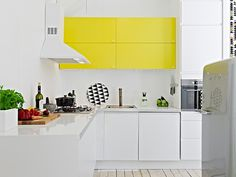 11 Rooms with Sunshine y Bright Spots #interior design #yellow #decoration #kitchen #decor #deco