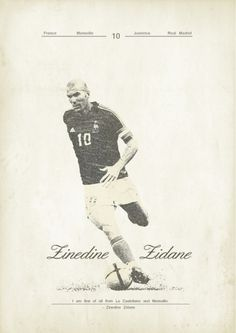 Sucker for Soccer on the Behance Network #futbol #poster #zidane