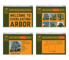 Everlasting Arbor on Behance #tree #brand #nature #identity #planting #web