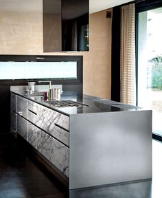 Atelier a New Stainless Steel Kitchen by Abimis - #kitchen, #kitchendesign, #kitchenideas, kitchen design