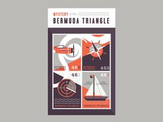 Bermuda Triangle stamps #illustration