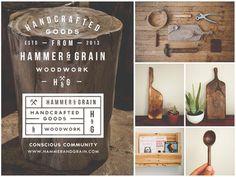 Hammer & Grain Complete #branding #design #graphic #brand #identity #logo