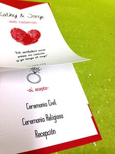 Wedding Invitation /Invitacixc3xb3n de Boda #groom #invitation #impreso #print #novia #bride #invitacin #novio #wedding