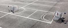urban hacking - from shopping carts to parking lots #art #street