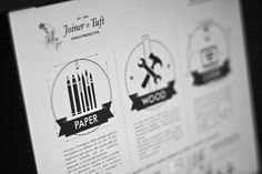 Icon Design on Behance #joinerandtuft #white #icon #infographic #design #black #and