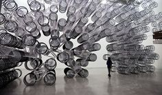 Ai Weiwei Piles 1,200 Bikes On Top Of Each Other, For Dazzling Effect | Co.Design #bikes #weiwei #sculpture #art #ai