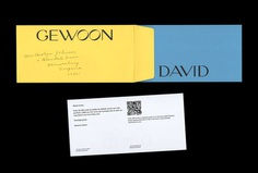 Picture of 3 designed by Andrés Rosa and Rafa Garcés for the project Gewoon David. Published on the Visual Journal in date 19 March 2018