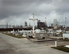 Holy Rosary Cemetery and Dow Chemical Corporation (Union Carbide Complex), Taft, Louisana, 1998, pigment print #photography