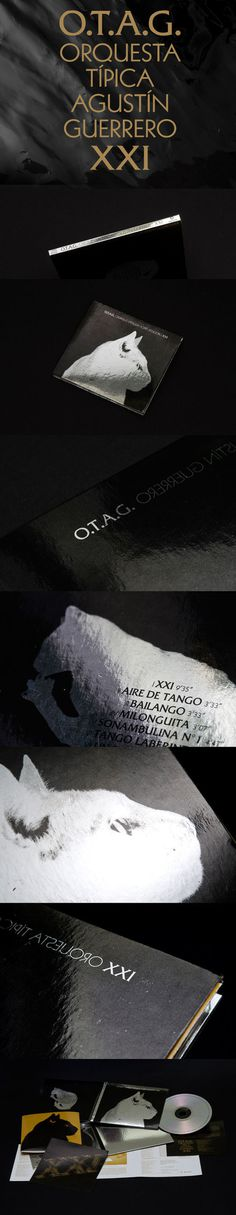 Tango album design OTAG XXI #album #edition #digipack #argentina #silver #classic #packaging #retro #cat #record #mirror #musica #vinyl #otag #xxo #music #tango #special #xxi #cd