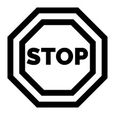 See more icon inspiration related to stop, traffic sign, miscellaneous, stopping, circulation, signaling, signs and sign on Flaticon.