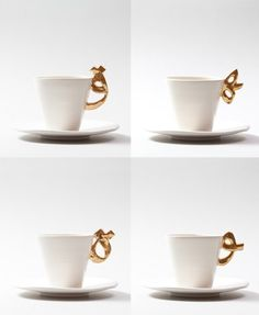 Probably White is a fusion of artisanal ceramics with contemporary Arabic calligraphy #creative #calligraphy #letters #cups #ceramics #design #arabic #espresso #product #coffee #luxury