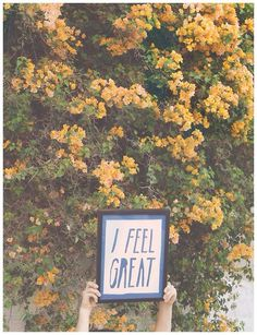 I Feel Great - by Jimmy Marble #quote #print #photography #art #poster #typography