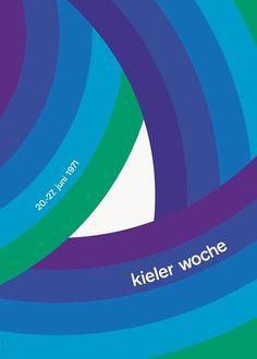 Bruno K. Wiese — Kieler Woche (1971) #woche #shape #kieler #poster