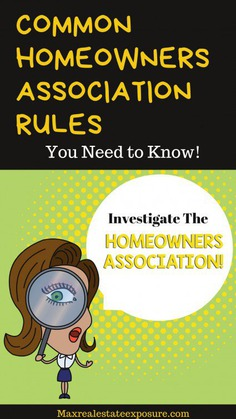 Common Homeowners Association Rules