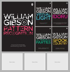 William Gibson Back Catalogue #development #wilson #design #graphic #book #cover #david