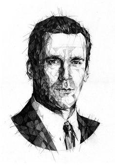 portrait Mad men #illustration #portrait