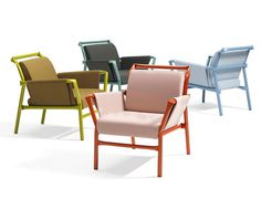Tubular Steel Furniture in Cheerful Colors - #design, #furniture, #modernfurniture, #chairs