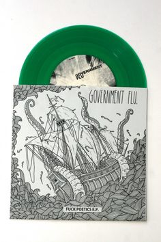 Government Flu #green #vinyl #ship #dawid ryski #flu