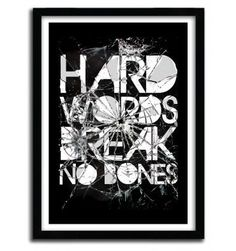 HARD WORDS by Ali Gulec #print #art