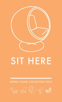 SIT HERE: Poster series #art #typography #vintage #poster #retro #fonts