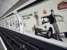 Stella Artois Recyclage de Luxe | The Inspiration Room #recyclage #underground #campaign #integrated #print #de #brand #csr #luxe