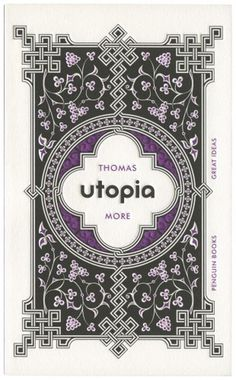The Book Cover Archive: Utopia, design by David Pearson #wedding #book