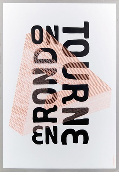 on_tourne, by les graphiquants - typo/graphic posters