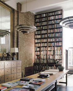 "Image Spark - Image tagged ""library"", ""interiors"", ""lighting"" - Frances #interior #books #library"