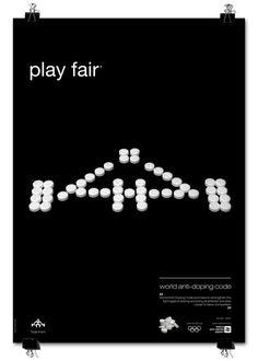 play fair poster series