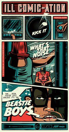 Ill Comic-cation Beastie Boys Print #print #beastie #illustration #poster #boys #music