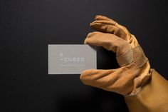 R-CUBED Business Card #restoration #glove #business #construction #branding #r-cubed #contemporary #hot #industrial #photography #minimal #studio #stationery #cards #foil