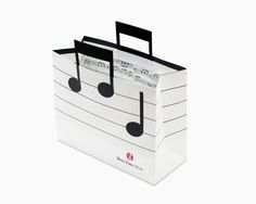 Music shopping bag design #music #musicnotes #shoppingbag #paper #bag #marketing #notes #print