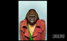 #gorila #wild #animal #poster #fashion Poster realizado para lokoloko.es