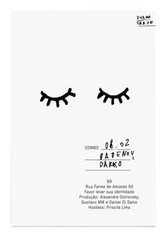PROMO. There is such simple prettiness in this poster, I like the batting eyelids and handwritten text - JB