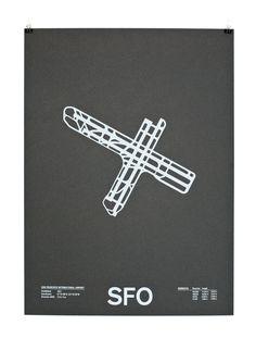 sfo #print #runway #paper #poster #airport