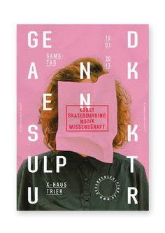 Gedankenskulptur on Behance #typography #poster