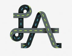 All sizes | maybe | Flickr - Photo Sharing! #lettering #shapething #road #logo #illustration #type