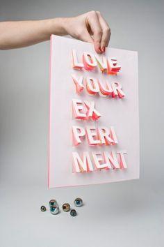 Saskia Pouwels #saskia #pouwels #poster #paper #experiment #typography