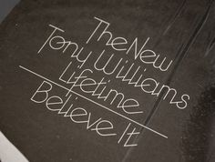 "The New Tony Williams Lifetime, ""Believe It"" Album Cover 