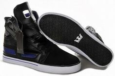 Men Skate Shoe Supra Skytop II Black and Purple #shoes